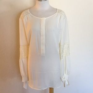 Lite and Sheet Lace Accented Blouse